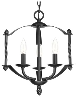 prg P4709-31 PRG 3-60W CAND CHANDELIER