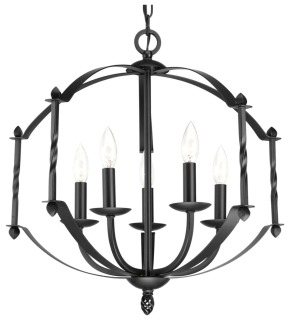 prg P4710-31 PRG 5-60W CAND CHANDELIER