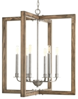 prg P4761-141 PRG 6-60W CAND CHANDELIER grey