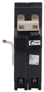 CH CH250GFT CH BREAKER 2P 50A GFI 240V PLUG IN 10K SELF TEST