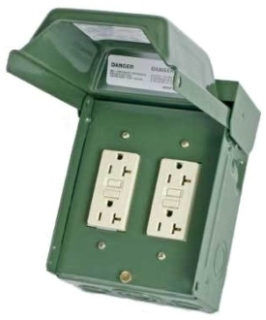 MID U012010GRP MID GFI OUTLET N3R GREEN