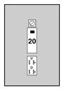 MID U010C010 MID POWER OUTLET 20A GFI DUPLEX W/BRKR 5-20R