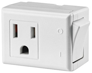 lev 1470-W LEVITON GROUNDED SWITCH TAP WHI