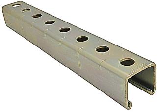 KIN B-907-10 KIN CHANNEL 3/4 X 1-1/2 W/ HOLES ON BACK SIDE
