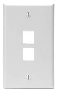 LEV 41080-2WP LEV QUICKPORT PLATE 1G 2-PORT WHITE