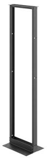 HDE EDR19FM45U HDE 7' 2-POST OPEN DATACOM RACK ALUM/BLACK W/TAPPED HOLES