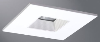 hal TLS408WHWB 4IN LED TRIM SQUARE BAFFLE TRIM WITH SOLITE