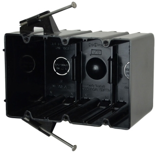 ALM P-643 ALM 3GANG THERMOPLASTIC SWITCH AND OUTLET BOX