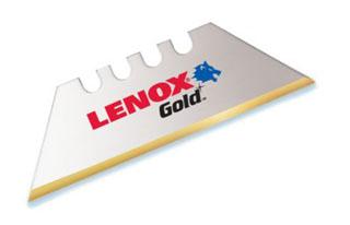 LEN 20350-GOLD5C LEN GOLD BIMETAL UTILITY BLADES 5PK