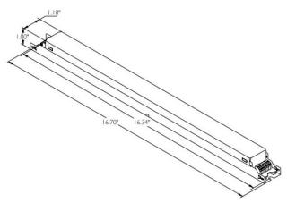 adv HDF254T535M ADV ELE DIMMING BALLAST (2) F54T5HO 120-277V