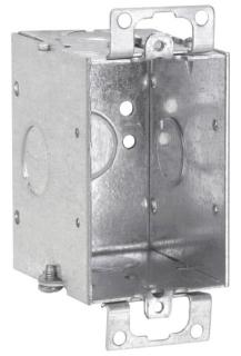 THP TP218 THP BOX 1G 2-1/2D W/EARS & 1/2 KO