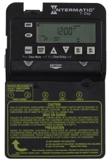 INT ET1725C INT ELECTRONIC TIME SWITCH 2-SPST 30A 7-DAY 120-277V N1 ENCL