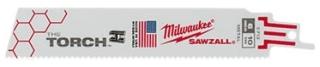 MIL 48-00-5784 (5/PK) MIL SAWZALL TORCH BLADE 18T 6LG