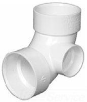 3 PVC 90 W/1 1/2 SIDE INLET
