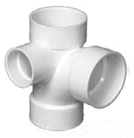 3 PVC TY W/1 1/2 LH INLET