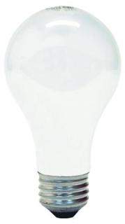 GE energy-efficient Crystal Clear, 53 WTT, 120 V, 1050 LM, 2950 KV, 100 CRI, 2.375 IN Diameter, 4.43 IN Length, Medium Screw (E26) Base, 1000 HR Average Life
