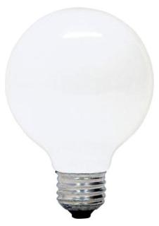 GE soft white 25 watt G25 1-pack