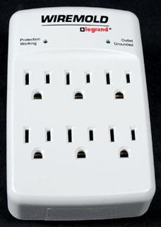 Plug-In Outlet Center Unit / 120V/15A/6 O/L /wall mount/Value Grade Surge
