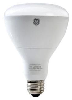 GE LED Lamps, 10 WTT, 700 LM, 2700 K, Dimmable, R30, Medium Screw Base, 5.4 IN Length, 25000 HR Average Life