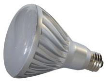GE LED Lamps, 10 WTT, 700 LM, 3000 K, 70 CRI, Dimmable, R30, Medium Screw Base, 5.4 IN Length, 25000 HR Average Life