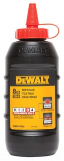 DWHT47048 DEWALT CHALK 8 OZ. - RED