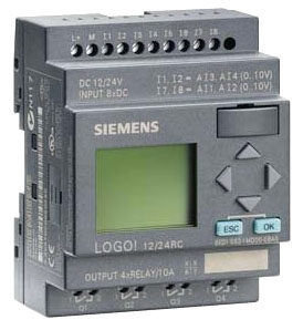 SIEM 6ED10521MD000BA6 LOGO 12/24RC 8DI(4AI)/4DO 200 BLOCKS