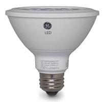 GE LED Lamps, 12 WTT, 1050 LM, 3000 K, 87.5 CRI, Dimmable, PAR30, Medium Screw Base, 3.74 IN Length, 25000 HR Average Life, Flood, White