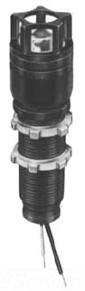 XLR-GH ADALET EXPLOSIONPROOF GUARDED PILOT LIGHT / 8IN WIRE LEADS / RED LENS / INCANDESCENT BULB / LONG BARREL