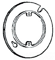 8409A APP 4-IN PLASTER RING 1/2 RSD