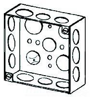 4SSPL APP 4SQ 1-1/2 DEEP 1/2 & 3/4 ECCENTRIC KO'S