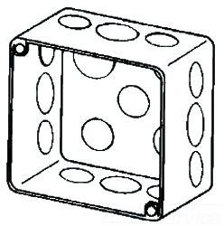 4SPD APP 4X2-1/8 DEEP DRAWN SQ BOX