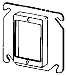 8468C APP 4SQ 1G PLASTER RING 5/8 RSD