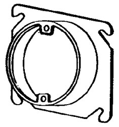8461D APP 4SQ PLASTER RING 1-1/4 RSD