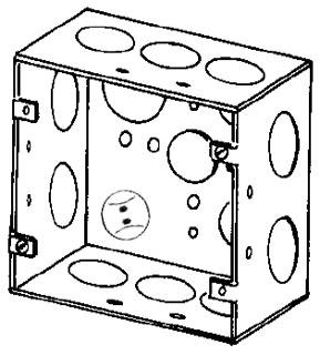 4SJD3/4 APP 4-11/16 SQ BOX 2-1/8 DEEP
