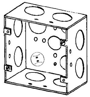 4SJD1 APP 4-11/16 SQ BOX 2-1/8 DEEP