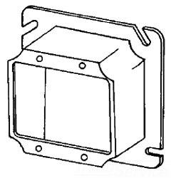 8486E APP 4-11/16 2G SQ PLASTER RING 1-1/4 RSD