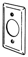 2539 APP SINGLE RECEPT 1-13/32 HANDYBOX COVER
