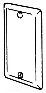 180A APP 1/2 CONDULET COVER ALUM 4-1/8 x 2-3/8