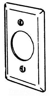 180X APP CONDULET FLUSH RECPT COVER STEEL 4-1/2 x 2-3/8