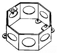 OCR2 APP 4-3/8X2IN OCT BOX 270RACO