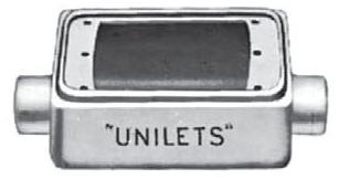 FSC-1-50 APP 1-GANG FS UNILET 1/2 KO'S