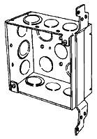 4SDVB-EK-PL APP 4X2-1/8 DEEP SQ BOX W/VERT BRKT ECCENTRIC KO'S