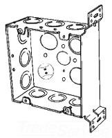 4SJDEKVB APP 4-11/16 SQ BOX 2-1/8 DEEP W/VERT BRKT & ECCENTRIC KO'S