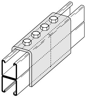 B172-22A-ZN B-LINE 4H SPLCE CLVIS