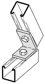 B156ZN B-LINE TWO HOLE CLOSED ANGLE, 82 1/2 DEG., ZINC PLATED 78101151373