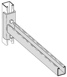 B196-18ZN B-LINE CHANNEL CLEVIS BRACKET, 18-IN., ZINC PLATED 78101151954