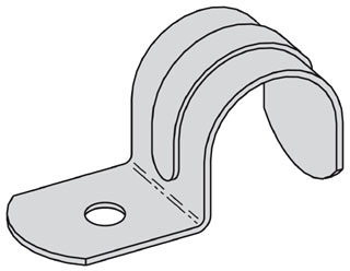 B2301-1/2ZN B-LINE ONE HOLE EMT STRAP, 1/2-IN., ZINC PLATED 78101176010