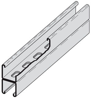 B22SHASS4-10 STAINLESS STEEL SLOTTED BACK TO BACK STRUT 1-5/8