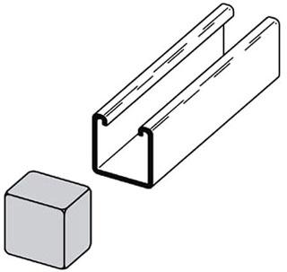 B822GRN B-LINE PLASTIC END CAP