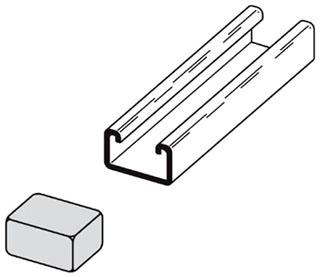 B852W B-LINE PLASTIC END CAP FOR 13/16